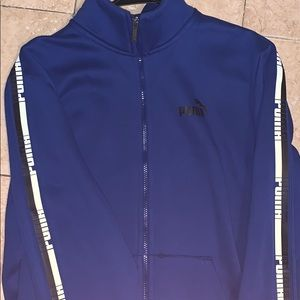 Puma side stripe zip-up sweater